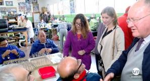 aspapros visitada por alcaldesa de molina de segura, esther clavero